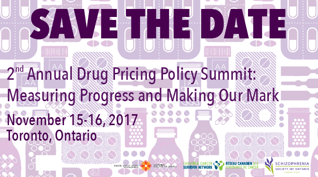 Canadian Cancer Survivor Network Announces 2nd Annual Drug Pricing Policy Summit | Survivornet.ca