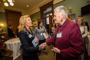 Jackie Manthorne, CCSN President & CEO with Christine Elliott, Minister of Health and Long-Term Care.